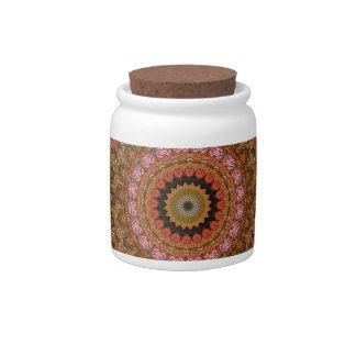 Tree Canopy Mandala Jar Candy Dishes