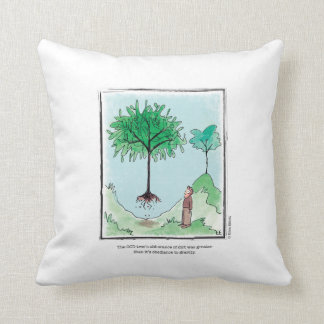 TREE cartoon by Ellen Elliott Throw Pillow