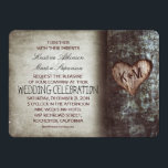 """Tree Carved Heart Rustic and Vintage Wedding Card<br><div class=""""desc"""">Old vintage rustic tree wedding invitation with the carved wood heart initials. -- All design elements created by Jinaiji</div>"""