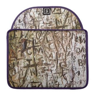 Tree Carvings Macbook Sleeve