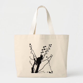 Tree Cat Canvas Bags