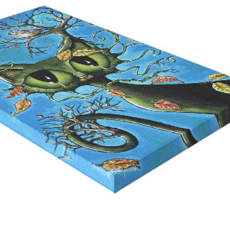 Tree Cat wrapped canvas
