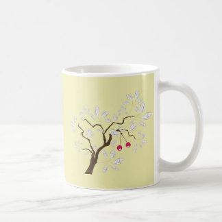 Tree ~ Cherry Tree White Leaf Mug