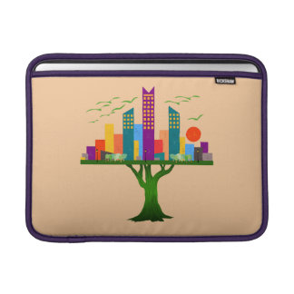 Tree City Colorful Architecture Sleeves For MacBook Air