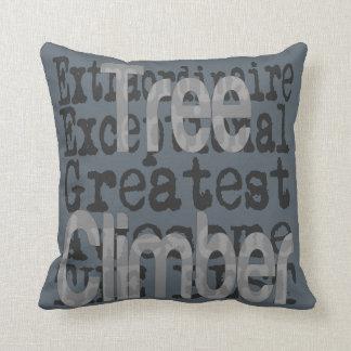 Tree Climber Extraordinaire Throw Pillow