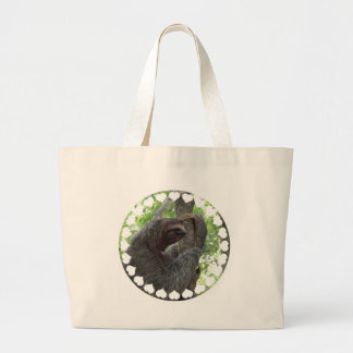 Tree Climbing Sloth Jumbo Tote Bag