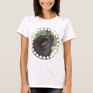 Tree Climbing Sloth Ladies Fitted T-Shirt
