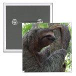 Tree Climbing Sloth Square Pin