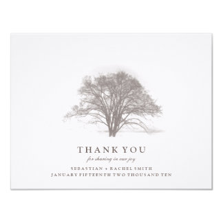 TREE COLLECTION: WEDDING THANK YOU CARD