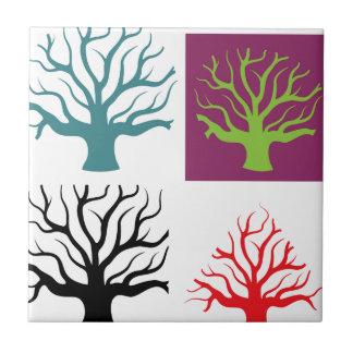 Tree concept four shapes ceramic tile