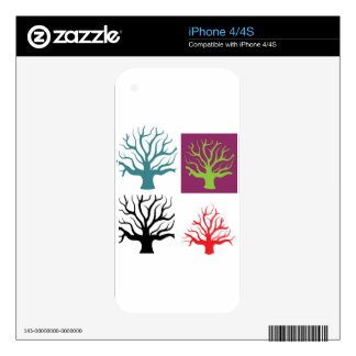 Tree concept four shapes skin for iPhone 4