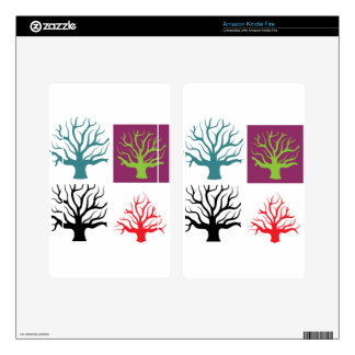 Tree concept four shapes skins for kindle fire