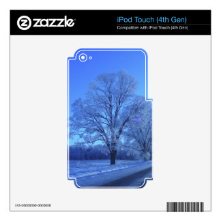 Tree covered in snow on barren landscape. skin for iPod touch 4G