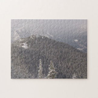 Tree Covered Mountain Hill Jigsaw Puzzle