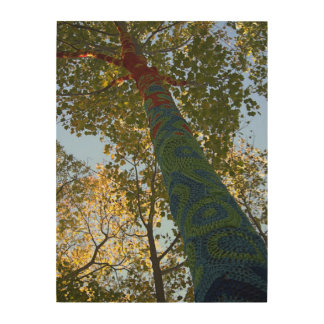 Tree Crochet II Wood Print