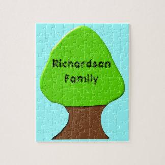 Tree Customizable Genealogy Puzzle