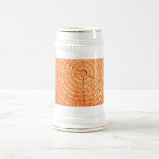 Tree cut texture beer stein
