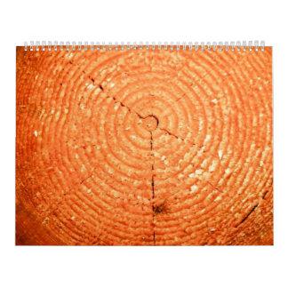 Tree cut texture calendar
