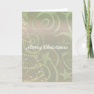 Tree Design Christmas Card card