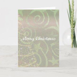 Tree Design Christmas Card card