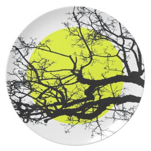tree dinner plate