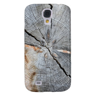 Tree disks wood structure galaxy s4 cover