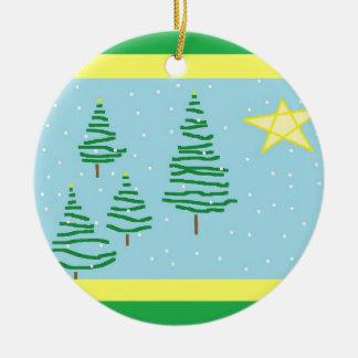 Tree Doodle Ceramic Ornament