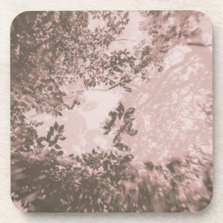 Tree Double Exposure (Pink) Coaster