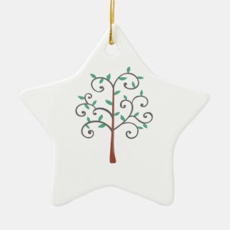 TREE Double-Sided STAR CERAMIC CHRISTMAS ORNAMENT