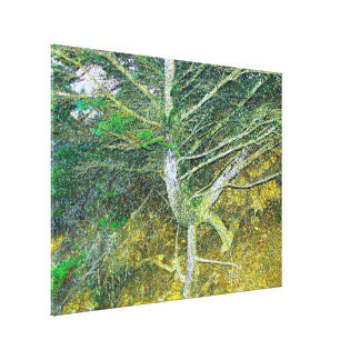 """Tree Dragon "" ""Green and gold abstract"""" Canvas Print"