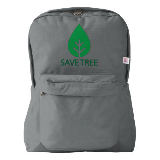 TREE EARTH SAVE AMERICAN APPAREL™ BACKPACK