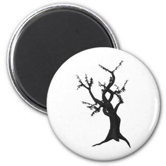 Tree Eight 2 Inch Round Magnet
