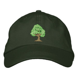 Tree Embroidered Hats