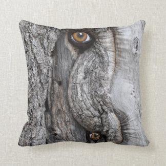 Tree Eyes Throw Pillow