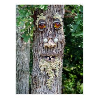 Tree Face Postcard