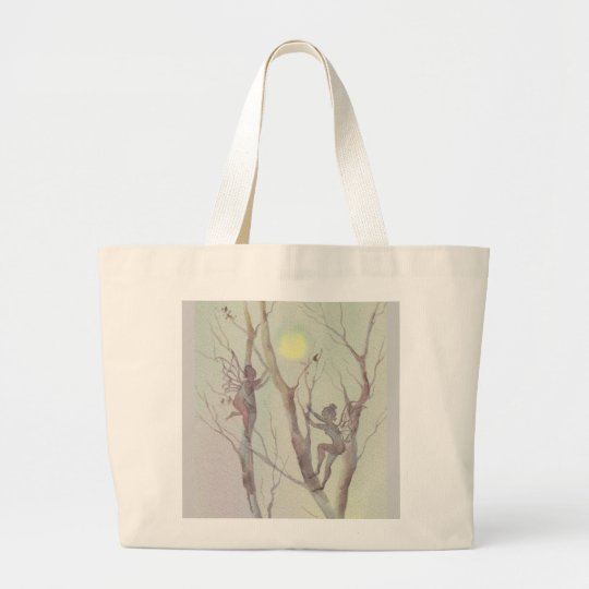 TREE FAERIES by SHARON SHARPE Large Tote Bag