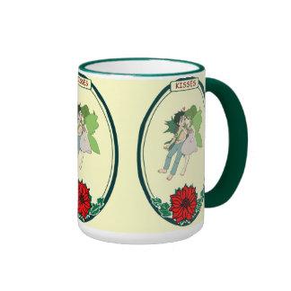 Tree fairy couple - kisses,mug ringer mug
