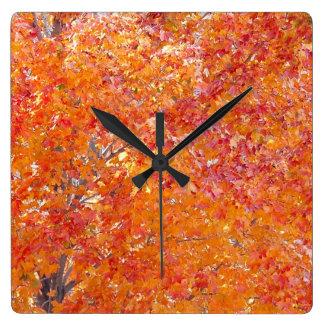Tree Fall Colours Wall Clock