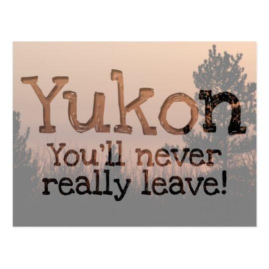 Tree Family; Yukon Territory Souvenir Postcard