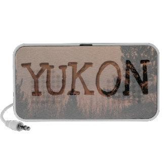 Tree Family; Yukon Territory Souvenir Portable Speakers