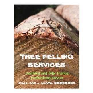 Tree Felling / Lumberjack flyer