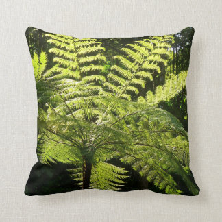 Tree Fern in the Rainforest Throw Pillow