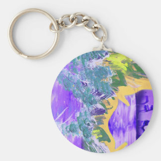 tree flame sky shield invert planet spacepainting basic round button keychain