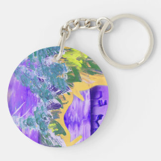 tree flame sky shield invert planet spacepainting Double-Sided round acrylic keychain
