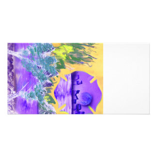 tree flame sky shield invert planet spacepainting photo card template