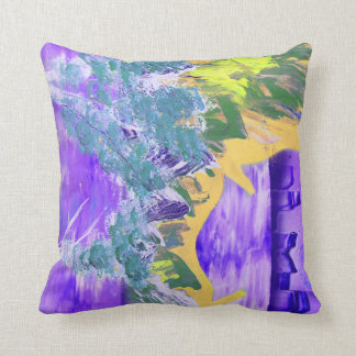 tree flame sky shield invert planet spacepainting throw pillow