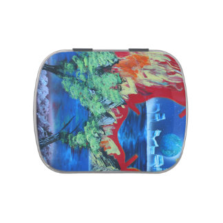 tree flame sky shield planet spacepainting jelly belly candy tins