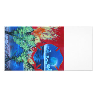 tree flame sky shield planet spacepainting photo cards