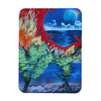 tree flame sky shield planet spacepainting flexible magnets