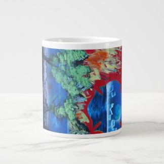 tree flame sky shield planet spacepainting jumbo mug